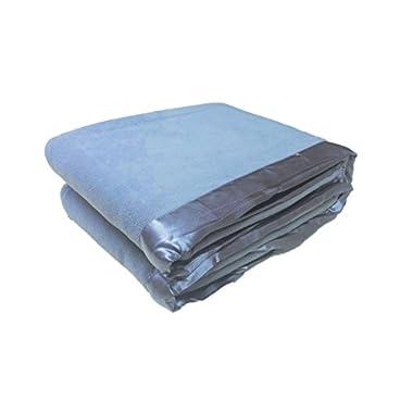 Cozy Fleece Micro Fleece Blanket with Satin Binding, Wedgewood, Twin