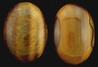 ONE 35x25 Oval Tigereye Cabochon Gem Stone Gemstone (Cabochon Tigers Eye)