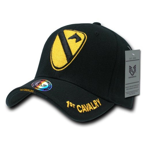 Rapiddominance 1st Cavalry The Legend Military Cap, Black (Military Hat Display compare prices)