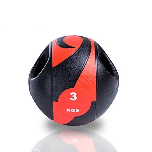 Balón medicinal con doble agarre, peso 5 kg.: Amazon.es: Jardín