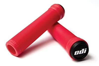 ODI Soft Flangeless Longneck Grips Softies For Bikes And Scooters RED