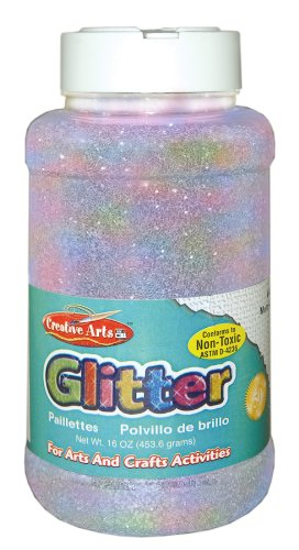 creative-arts-by-charles-leonard-glitter-16-ounce-bottle-iridescent-1-each-41175