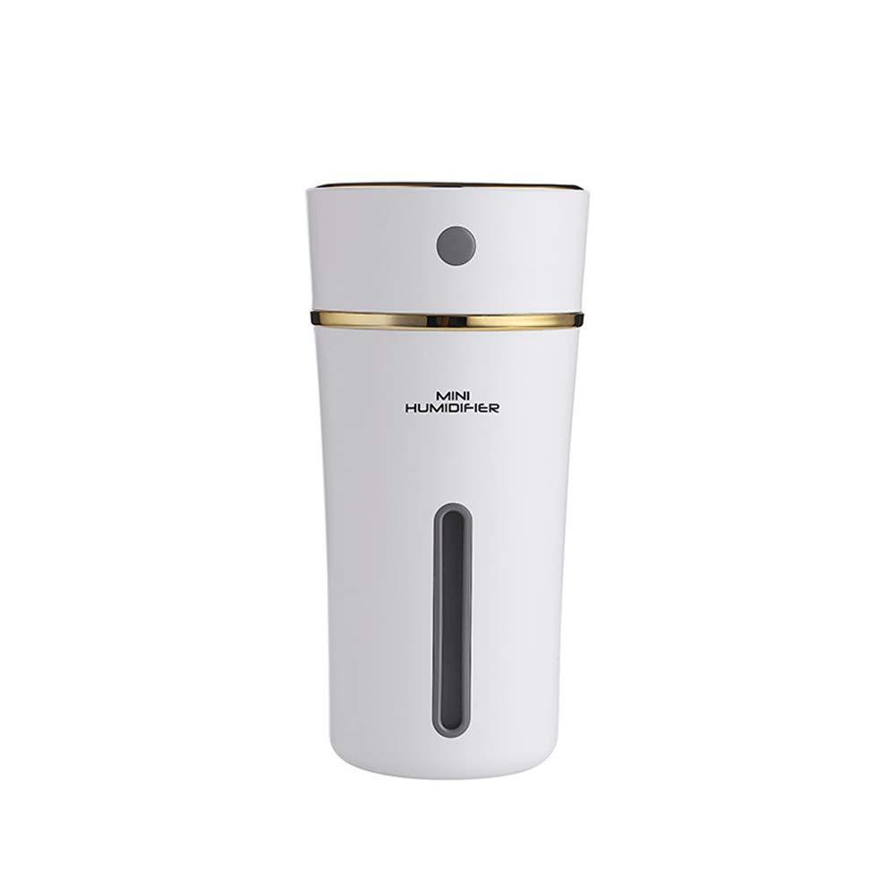 CLOCK Humidificateur De Tasse 300ML USB Aroma Lamp Diffuseur D'huile Essentielle À Ultrasons Humidificateur d'air 500Mah À Piles, White [Classe énergétique A]