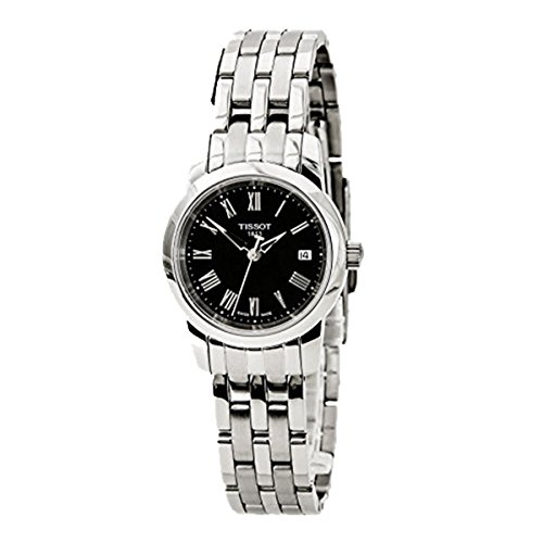 Tissot T0332101105300 Womens Stainless Steel Case and Bracelet Black Dial Date Display Roman Numerals by Tissot
