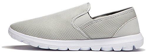 Vibdiv--Men's Lightweight Breathable Anti-Slip Casual Shoes(EU 41 US 8 Men,Grey) by vibdiv (Image #2)