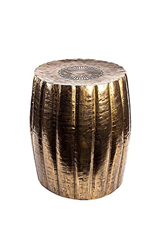 Etched Coffee Table (Oohlong Market, Antique Brass Finish Stool)