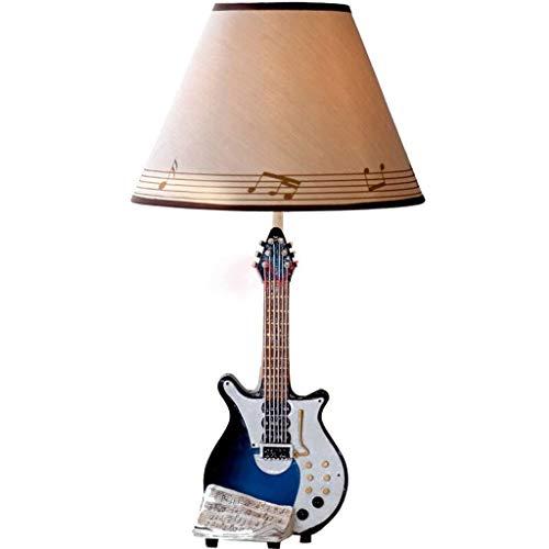 PLLP Lámpara de Mesa doméstica, lámpara de cabecera, Personalidad, Guitarra, música, Campana, lámpara Creativa,...