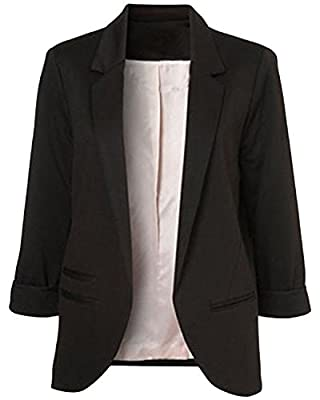 Tempt me Womens Casual Long Sleeve Open Front Work Office Blazer Jacket Suits