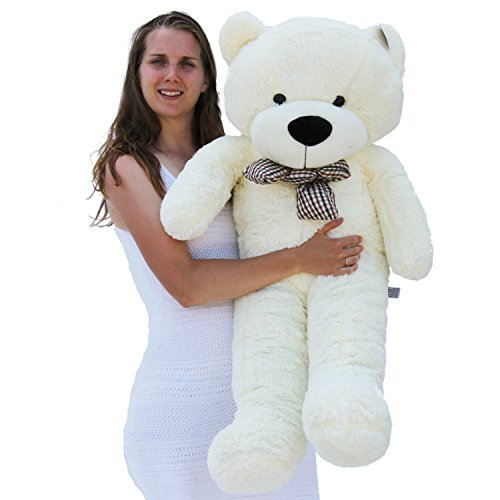 Joyfay47 120cm White Giant Teddy Bear Stuffed Toy