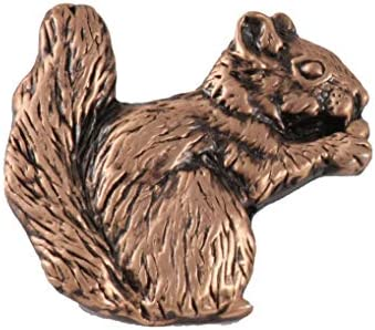 Creative Pewter Designs Squirrel Mammal Copper Plated Lapel Pin Brooch Jewelry MC184