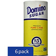 Domino Premium Pure Cane Granulated Sugar with Easy Pour Recloseable Top 16 oz. (Pack of 6)