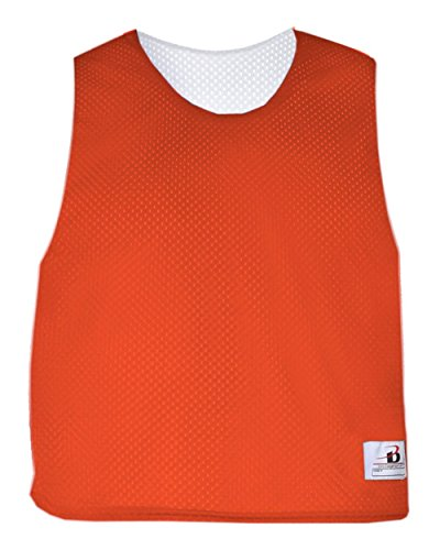 5a24e799962 Orange White Adult S M Reversible LAX Practice Jersey Pinnies