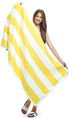 Torry Microfiber Beach Towel: Large 62X31 Portable Travel Sand Free Beach Towel | 4 Different Modern Designs | Ultra Absorbent & Fast-Drying Pool, Bath & Camping Towel for Men Women & Kids