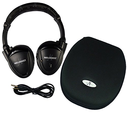 Wisconsin Auto Supply MDZHP-FF-BLK-(1) Black Wireless Headphone (2 Channel Fold Flat DVD Player with Case and 3.5 mm Auxiliary Cord), 1 Pack by Wisconsin Auto Supply