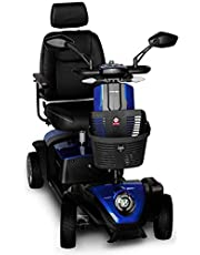 FOXTR Scooters Foxtr 2 Mid-size Mobility Scooter, 4 Wheels, Blue, With Ultra Suspension and Mirrors Included 1 countBlue