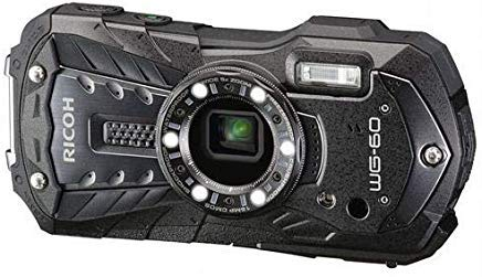 Ricoh WG-60 Waterproof Digital Camera, 2.7