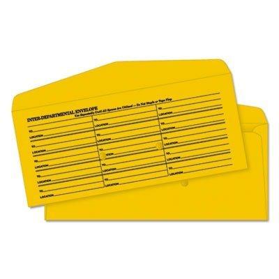 Kraft Interoffice Envelopes, Printed One Side, 4-1/2 x 10-3/8, 500/Box (QUA63262) by Quality Park