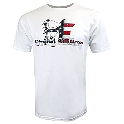 String Stalker Proud American Bow Hunter T Shirt - White