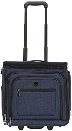 "Travelers Club Rolling, Navy Blue, 16"" Underseat Carry-On"