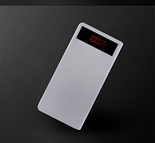 Price comparison product image T.Face 12000mAh Portable Fast Charge Mobile power bank 2 USB ports Output Lithium Polymer Batteries Digital Display powerban (White)
