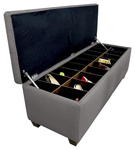 MJL Furniture Designs Diamond Tufted Ottoman/Bedroom Bench with Shoe Storage, 20
