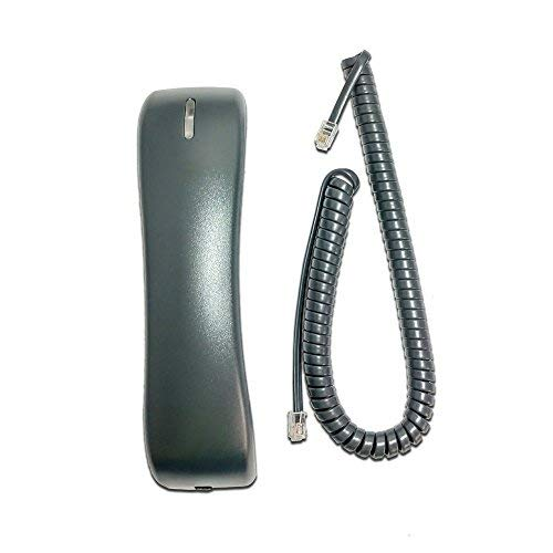 Cisco 7900 Series (CP-HANDSET=) Compatible Handset with Curly Cord. Fits 7902, 7905, 7906, 7910, 7911, 7912, 7940, 7941, 7945, 7960, 7961, 7962, 7965, 7970, 7971, 7975 (Replacement Handset Series)