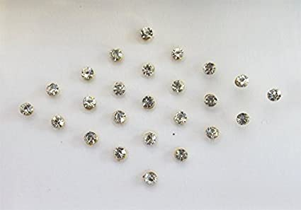 Amazon Com 58 Clear Crystal Stick On Fake Nose Stud With Golden