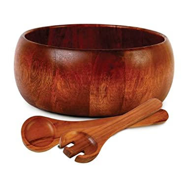 Gibson 3-Piece Laroda Salad Set, 10-inch, Acacia Wood