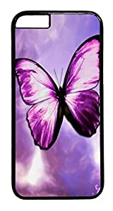 ACESR Butterfly iPhone 6 Hard Case PC - Black, Back Cover Case for Apple iPhone 6(4.7 inch)