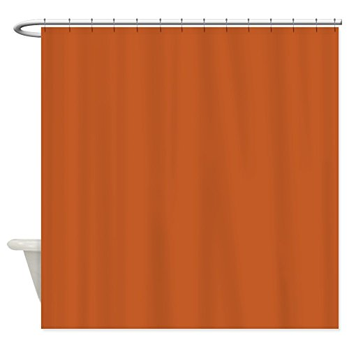 CafePress - Ancient Burnt Orange - Decorative Fabric Shower Curtain (69