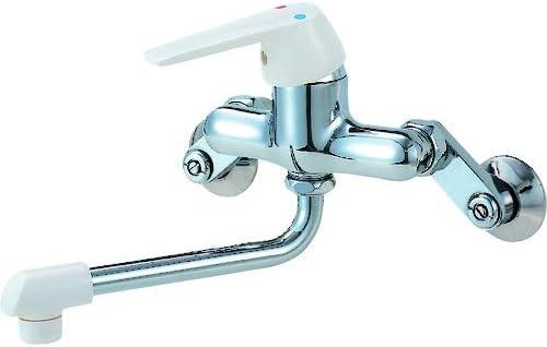 SANEI 【キッチン用混合栓】 シングル混合栓 断熱キャップ付 パイプの長さ 170mm CK1700D