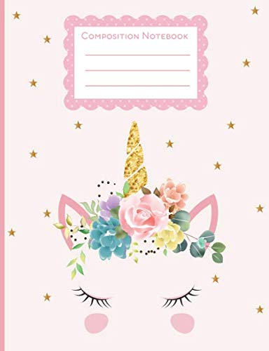 "Composition Notebook: ""Cute Unicorn Wide Ruled Paper Notebook Journal 