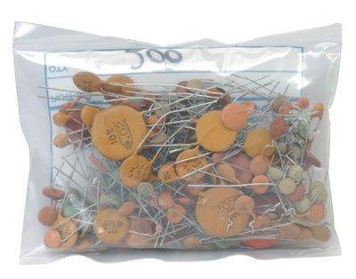 Jameco Valuepro GB100 Ceramic Disc Capacitor Grab Bag, 200 Piece
