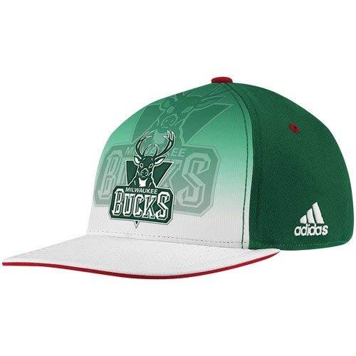 NBA adidas Milwaukee Bucks Youth Green-White Official Draft Day Flex Hat
