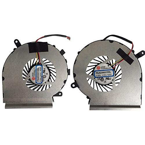Z-one Fan Replacement for MSI GE62 GE72 PE60 PE70 GL62 GL72 Series CPU Gpu Cooling Fan 2Fans PAAD06015SL N303 PAAD06015SL N302 3-Wire
