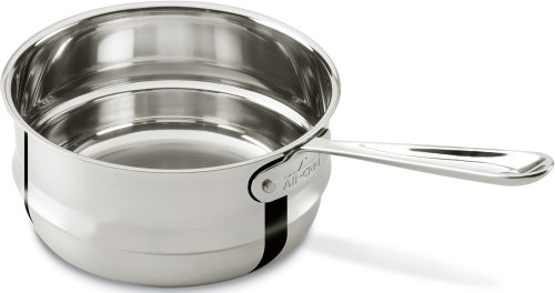 1 Quart Covered Straining Saucepan With Pour Spouts Ceramic
