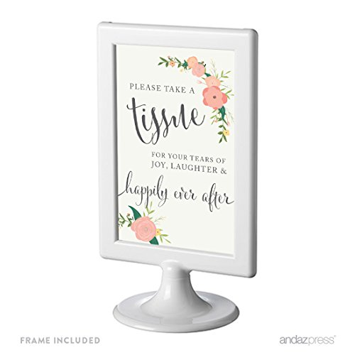 Andaz Press Framed Wedding Party Signs, Floral Roses Prin...