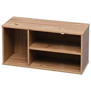 Amazon Marque – Movian Meuble TV avec 3 niches ouvertes pour écran 28 pouces – Module Wood Shelf MDB-3S – Chêne clair…