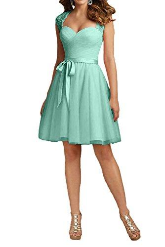 Mini Promkleider Charmant Rosa Rock Cocktailkleider Gruen Spitze Minze A Prinzess Damen Linie Brautjungfernkleider IpnwY6q