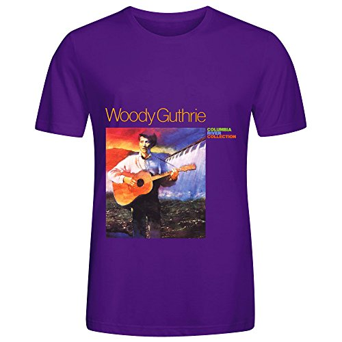 woody-guthrie-columbia-river-collection-pop-album-men-o-neck-design-shirts-purple