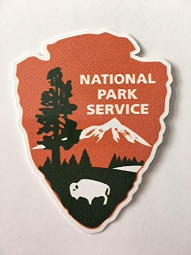 National Park Service Department Laptop Car Window Bumper 5 Inches Die Cut Vinyl Decal Sticker