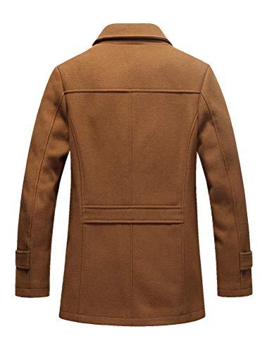 Laine Trench Hiver Fit Chaud Homme Manteau coat Mallimoda Élégant Duffle Slim Chameau qFwaTtx