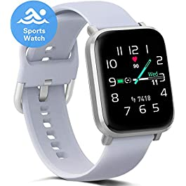 Smart Watch for Women Men, Fitness Activity Tracker with Heart Rate Monitor Blood Oxygen Sleep Tracking, Calories Steps…