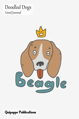 Doodled Dogs Lined Journal: Medium College Ruled Notebook With Beagle with Crown Cover pdf