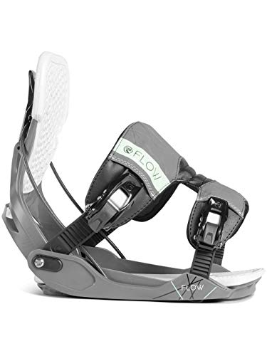 Flow Minx Womens Snowboard Bindings 2019 - Medium/Space Grey ()