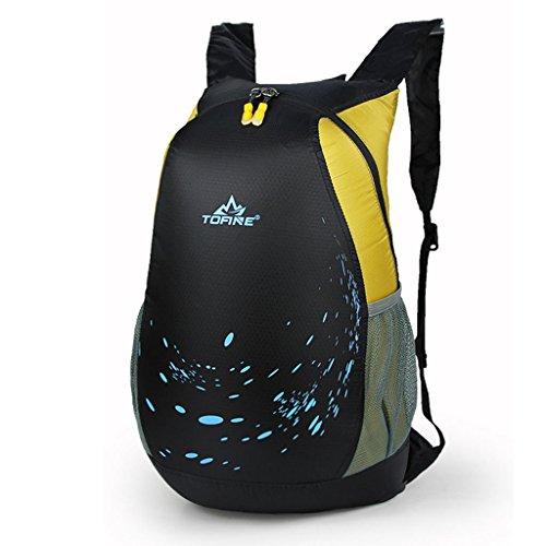 alpinismo al aire libre del bolso de hombro bolsa de equipaje de nylon hombres y mujeres mochila plegable ocasional coreano amarillo
