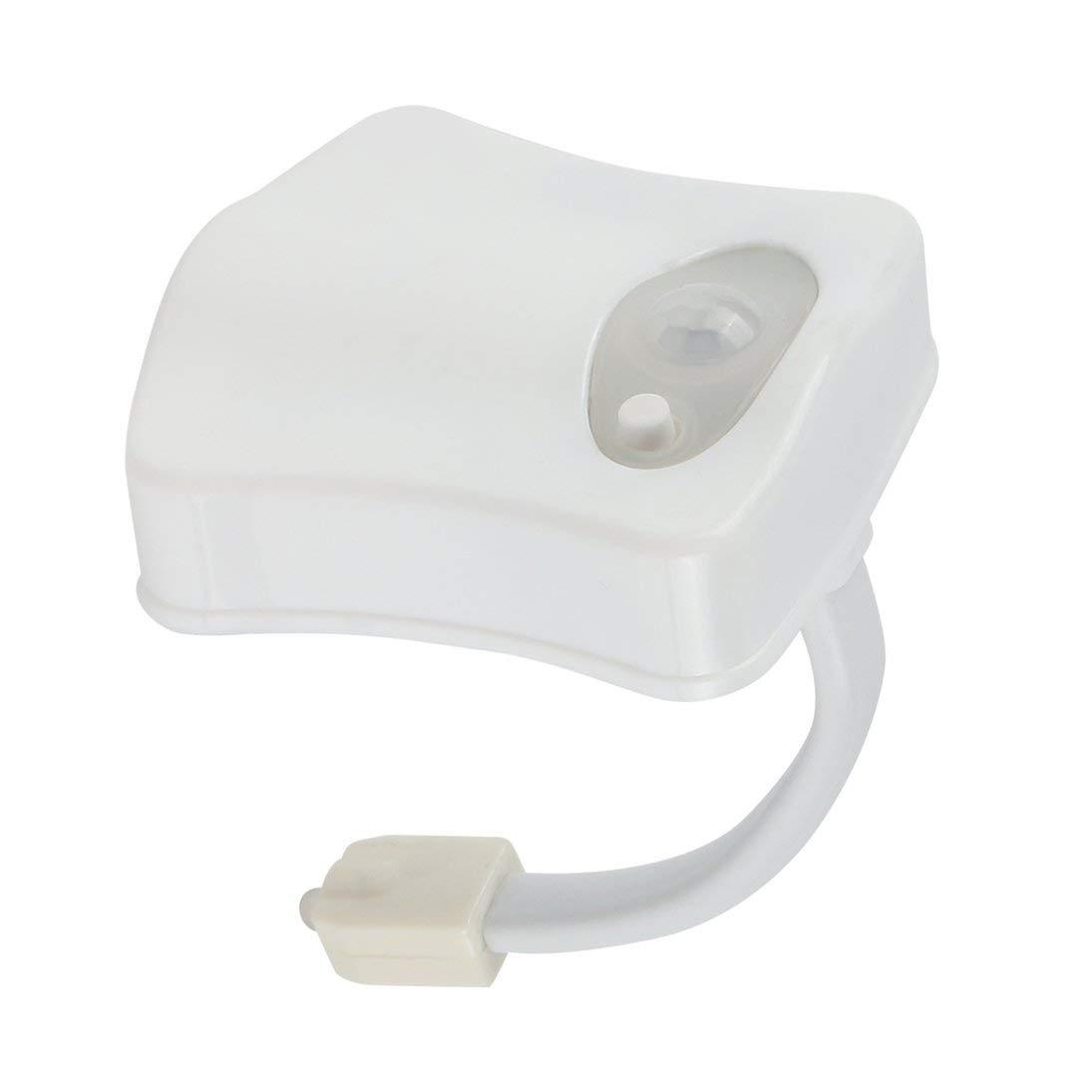 Smart LED Sensor de Movimiento Humano Ba/ño Activado Luz de Noche Ba/ño con 8 Colores L/ámpara de Asiento de Inodoro Sensor autom/ático Luz de Asiento ToGames-ES