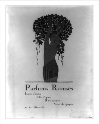 (Historic Print (L): [French perfumes advertisements, with Art Nouveau illus: ...)