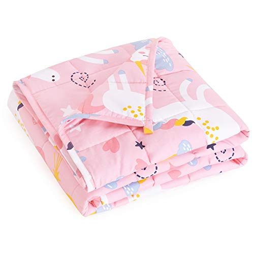 Mr-Sandman-Weighted-Blanket-for-Kids-3-Pounds-Washable-Cooling-Natural-Cotton-Heavy-Blanket-Helps-to-Quality-Sleep-36-x-48-Pink-Unicorn