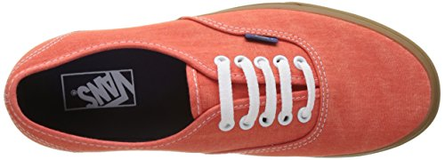 Vans UA Authentic, Zapatillas Para Hombre Naranja (Washed Canvas)